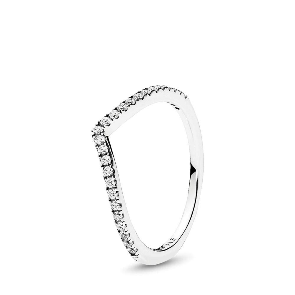PANDORA Shimmering Wish Ring, Sterling Silver, Clear Cubic Zirconia, Size 7 by PANDORA