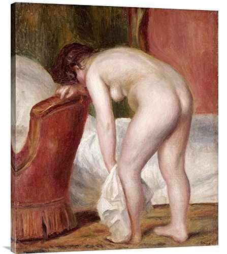 "Global Gallery GCS-267113-36-142 ""Pierre Auguste Renoir Female Nude Drying Herself"" Gallery Wrap Giclee on Canvas Wall Art Print"