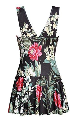 Costumi da Stampato Mae donne pezzo taglie kirted Summer Un floreali bagno forti 5xfTwU