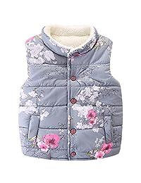 LittleSpring Little Girls' Vest Warm Sleeveless