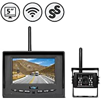 RVS-155W SIMPLESIGHT WIRELESS BACKUP CAMERA SYSTEM WITH 5 SINGLE SCREEN MONITER