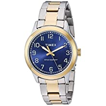 Timex Men's TW2R36600 New England Two-Tone/Blue Stainless Steel Bracelet Watch