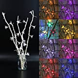 Hitommy 25 LED Cherry Blossom Tree Table Floor Lamp Home Room Night Light Decoration - Blue