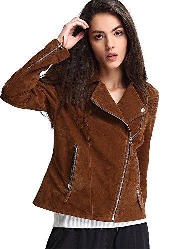 Brown Leather Biker Jackets - 9