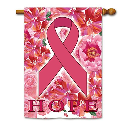 KafePross Pink Ribbon Prevention and Treatment of Breast Cancer House Flag 28