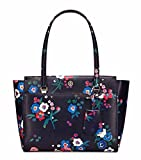 Tory Burch Parker Floral Small Leather Tote, Pansy Boquet