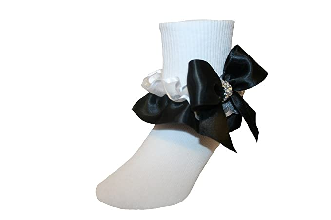 best prices limited price great deals on fashion Amazon.com: Girls Ruffle Socks with Satin Organza Bows ...