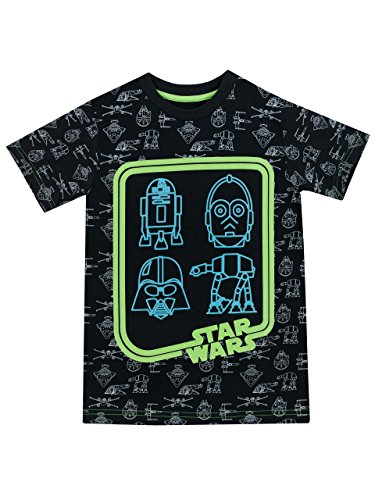 Cool Kids Dark T-shirt (Star Wars Boys Star Wars Glow In The Dark T-Shirt Size 8)