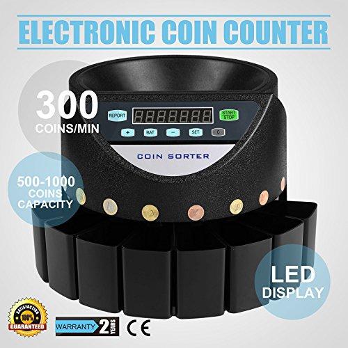 FurMune Münzzähler Münzsortierer Euro-Münzen Münzzählmaschine Euro Coin Counter Sorter