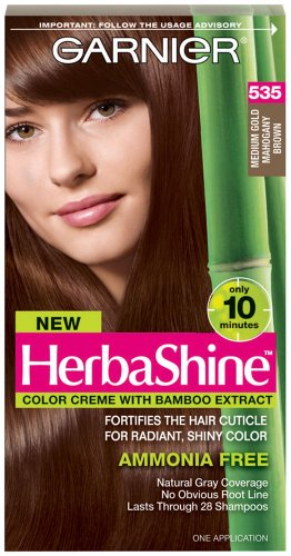 Garnier HerbaShine coloration, 535 or moyen Mahogany Brown