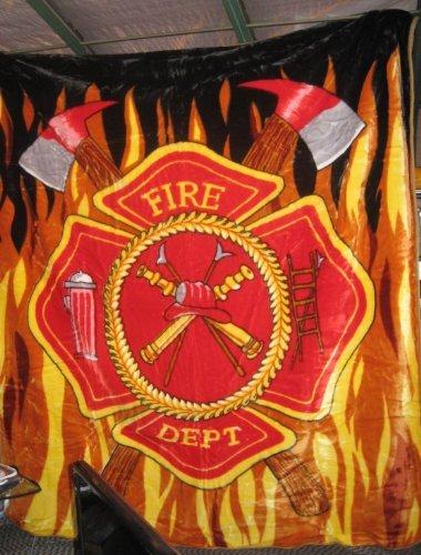 Flaming Firefighter Rescue EMT Badge ~ 96