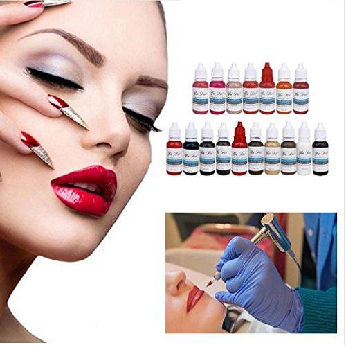 Amazon.com : 12Pcs Eyebrow Lips Tattoo Permanent Makeup Tattoo ink ...