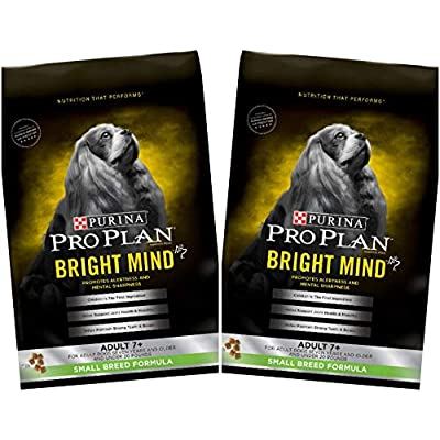 2 Bags of Purina Pro Plan Bright Mind Adult 7+ Small Breed Formula Dry Dog Food 5 Lbs ea