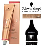 Schwarzkopf Professional Blond Me Blonde Toning (NEW VERSION - 2.1 oz); includes'Sleek Tint Brush' (SAND)