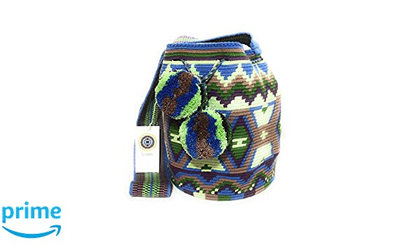 Mochila Wayuu Ethnic 100% hand Woven Shoulder Bag Multicolor: Handbags: Amazon.com