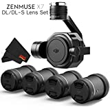 DJI Zenmuse X7 3-Axis Gimbal & Super 35 Cinema Camera with 4 Lens DJI DL/DL-S Lens Bundle