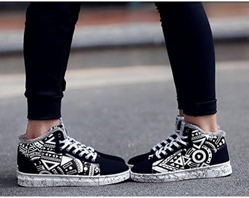 大きいサイズ(28.5cm) カップル スニーカー ペアお揃い 恋人 レディース メンズ 運動靴 秋冬 裏起毛 裏ボア ふわふわ 暖か 保温 防寒 レースアップ フラット 歩きやすい 疲れない 可愛い カジュアルシューズ ブラック 黒