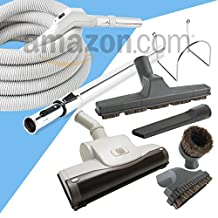 Central Vacuum Straight Air Attachment VAC 30' Foot Set