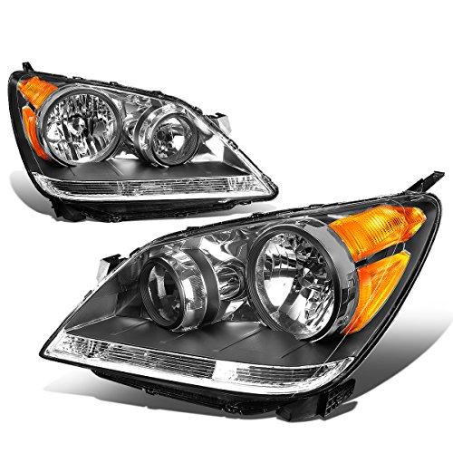 - For 08-10 Honda Odyssey 3rd Gen RL Pair of Black Housing Amber Corner Headlight Lamp