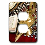 3dRose lsp_131462_6 Lamp of Aladdin, Arabic Shoes, Holy Islamic Quran Af14 Nto0030 Nico Tondini Light Switch Cover