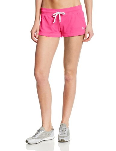 Soffe Juniors Honeycomb Mesh Short, Neon Pink, Medium (Soffe Mesh)