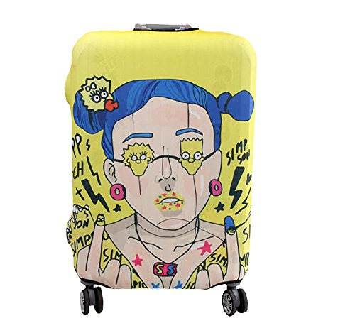 Luggage Cover 3D Cartoon Protective Suitcase BOPEPA Stretch Fabric Fits 18-32 - Trolley 32 Suitcase Inch