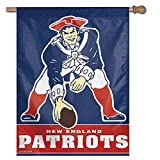 WinCraft NFL New England Patriots 21527041 Vertical Flag, Small, Black