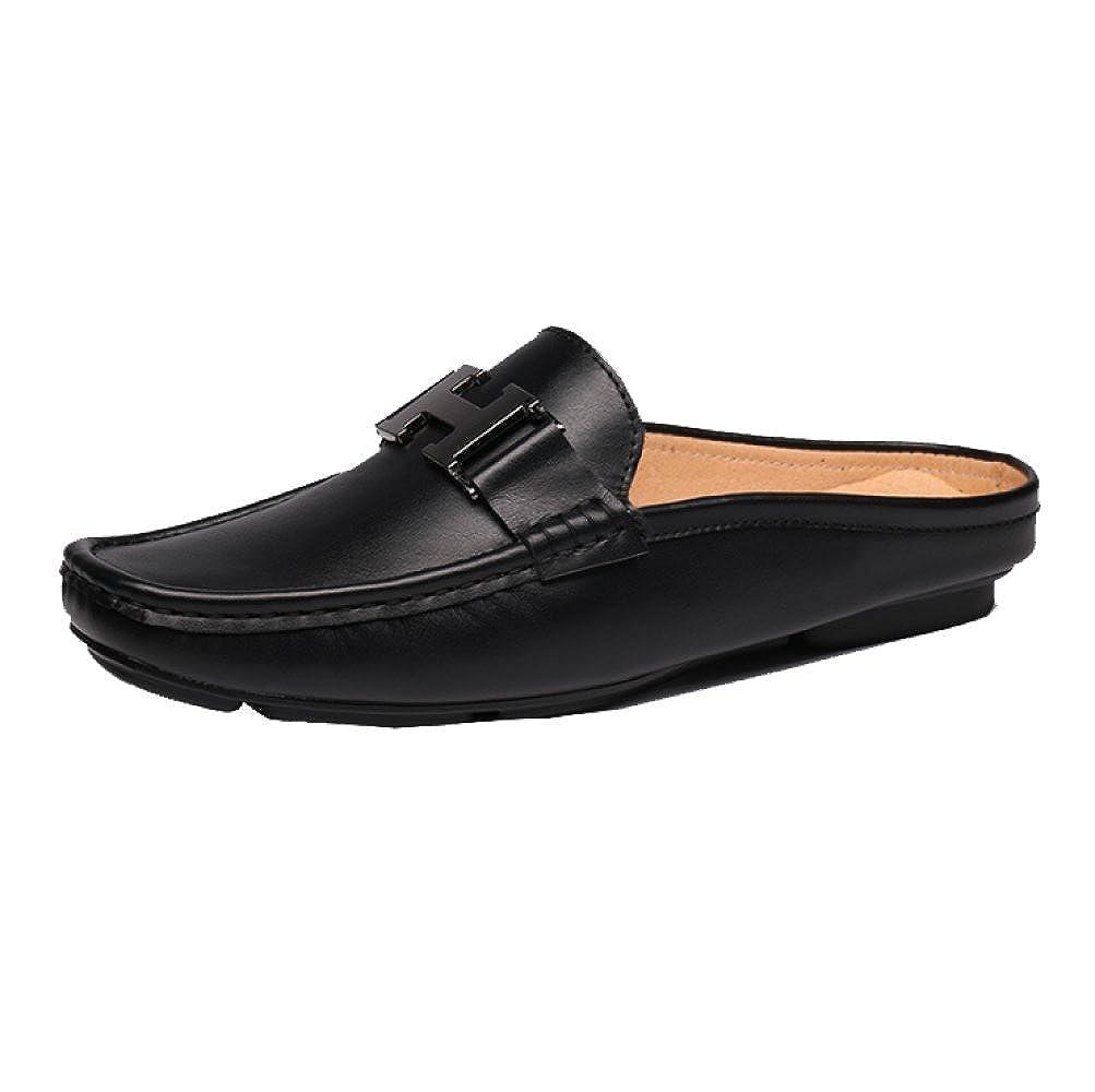YCGCM Herren Hausschuhe Koreanisch Baotou Semi-Faule Schuhe Atmungsaktiv Lässig Trendy Bequem Tragbar