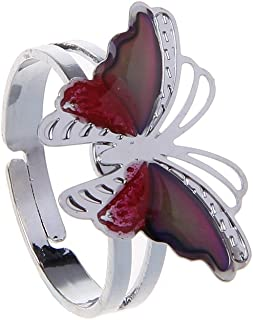 zrshygs Colour Change Ring Anelli Colorati Butterfly Feel Ring Emotion Feeling Anelli per Le Donne Bambini