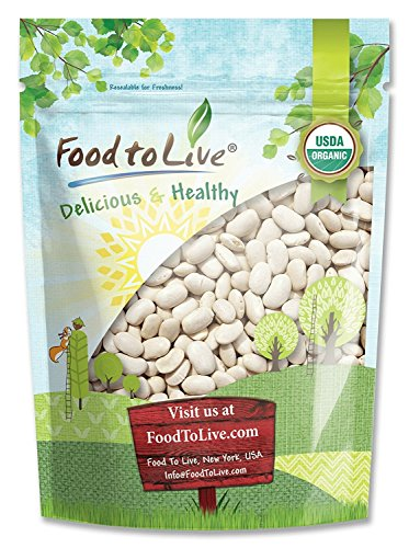 Organic Cannellini Beans by Food to Live (Raw, Dried, Non-GMO, Kosher, White Kidney Beans in Bulk, Product of the USA)  3 Pounds