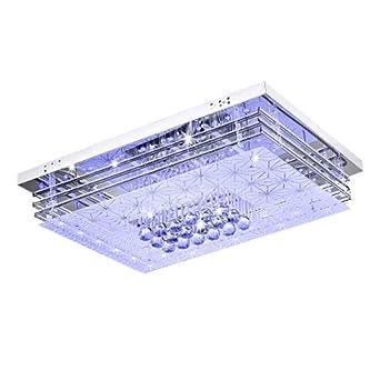 JJ Moderne LED Deckenleuchte Rechteckige LED Licht Atmosphäre Crystal Flur,  Schlafzimmer, Wohnzimmer Deckenlampen Minimalistischen
