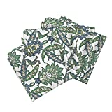Roostery Islamic Organic Sateen Dinner Napkins Persian Pattern, Restored Colors by Unseen Gallery Fabrics Set of 4 Cotton Dinner Napkins made by