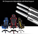 Black-with-White-Stripes-Racer-Computer-Gaming-and-Office-Chair-Adjustable-Width-Back-and-Neck-Pillow-Height-Adjustment