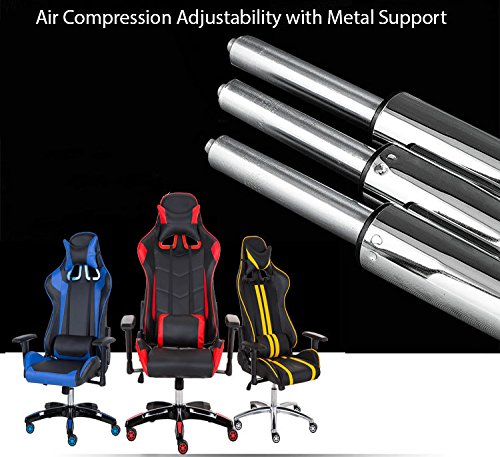 51bUpCCqMEL - [ Black with White Stripes] Racer Computer Gaming and Office Chair, Adjustable Width, Back and Neck Pillow, Height Adjustment
