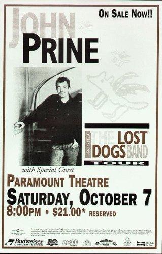 John Prine Denver Original Concert Poster 2000