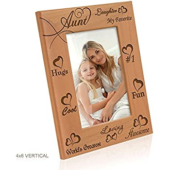 kate posh my awesome cool favorite loving aunt engraved natural photo frame i love my aunt picture frame aunt gifts aunt gifts for mothers day