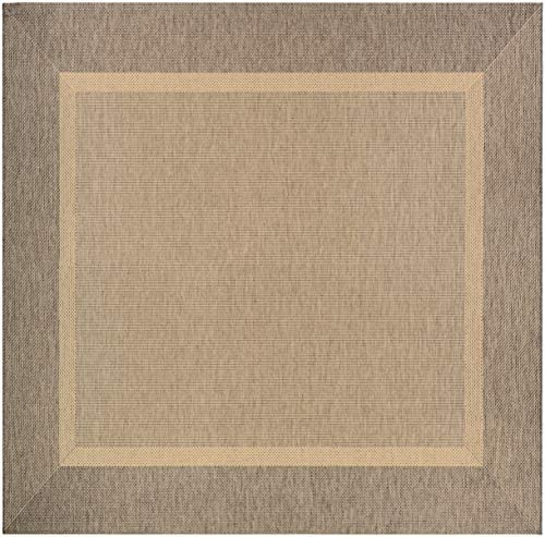 Couristan Styria Texture Area Rug, 8 6 Square, Natural-Coffee