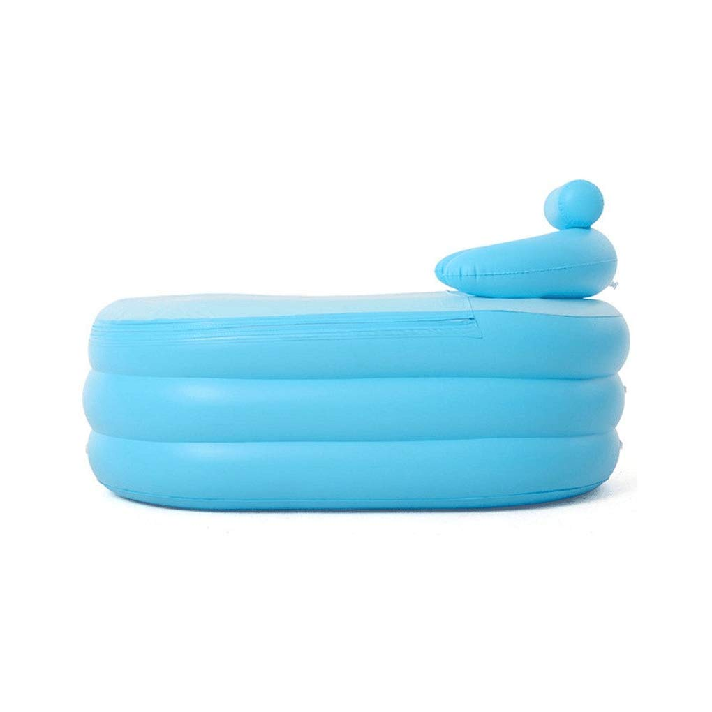 Folding Bathtub Inflatable Bathtub Adult Blue bathroomBathtub Baby Pool Foldable Tub 1428464cm Portable by GX Bathtub (Image #4)