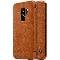 Capa Case Flip Galaxy S9 Plus NiLLKiN Qin Couro - Marrom