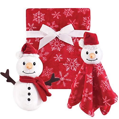 Hudson Baby Plush Blanket and Security Blanket Set, Snowman, One Size