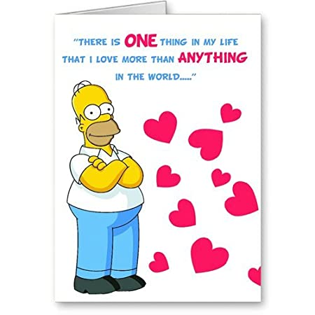 The Simpsons Humorous Valentines Day Card Amazon Co Uk Office Products