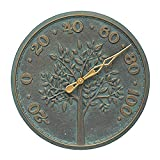 Whitehall Products Tree of Life 16-in. Indoor/Outdoor Thermometer Bronze Verdigris