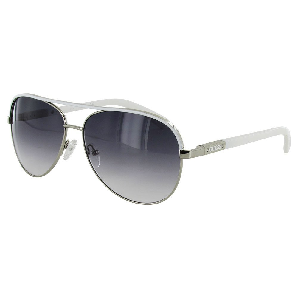 Guess Womens GUF224 Aviator Wire Rim Fashion Sunglasses, Silver/Smoke by GUESS