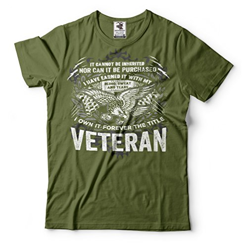 Veteran US army Veteran T-shirt proud Veteran best Gift for Veteran Large Black