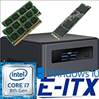Intel NUC7I7DNHE 8th Gen Core i7 System, 32GB Dual Channel DDR4, 2TB M.2 SSD, Win 10 Pro Installed & Configured by E-ITX