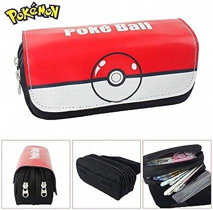 Estuches Material escolar Portatodo doble Pokemon Pokeball: Amazon.es: Oficina y papelería
