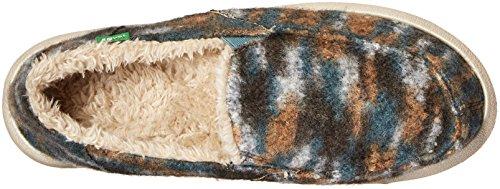 Sanuk Dames Calichill Platte Stoffige Groenblauw