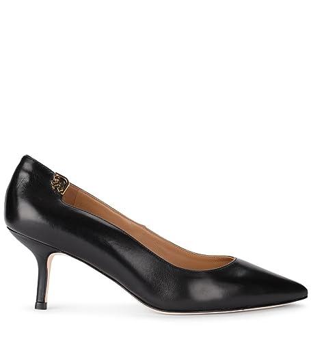 7f1549587 Tory Burch Women s Elizabeth Pump Black Leather Décolleté  Amazon.co.uk   Shoes   Bags