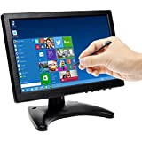TOGUARD 10.1 Inch IPS Touch Screen Monitor 1280x800 HD Portable Color Display Video and Audio 175 Degree Wide Viewing Angle with AV/VGA/HDMI/BNC/USB Input Earphone Output for PC Security CCTV Camera