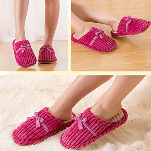 Cityelf Memory On Velvet Women's Indoor Plush Cotton Slippers House Watermelon Coral Foam Lining Slip 1ZAST1